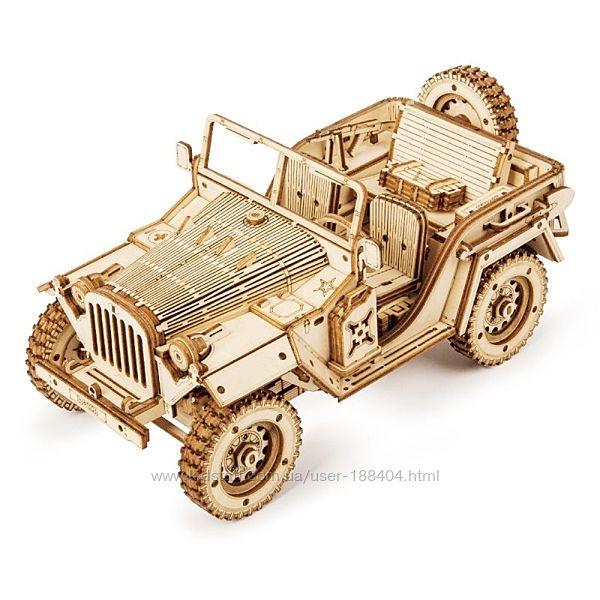 Деревянный 3D пазл Армейский автомобиль / Army Field Car. Robotime. MC701