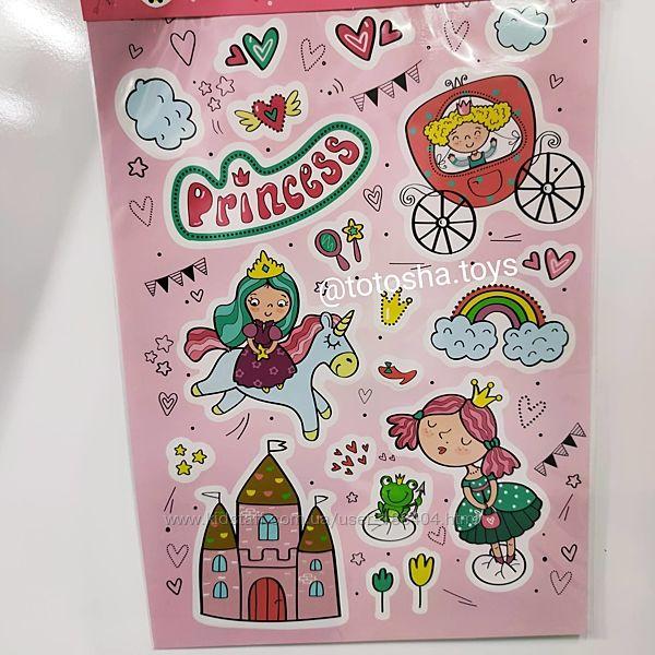 Набор настенных наклеек Принцессы от Dodo. 300304
