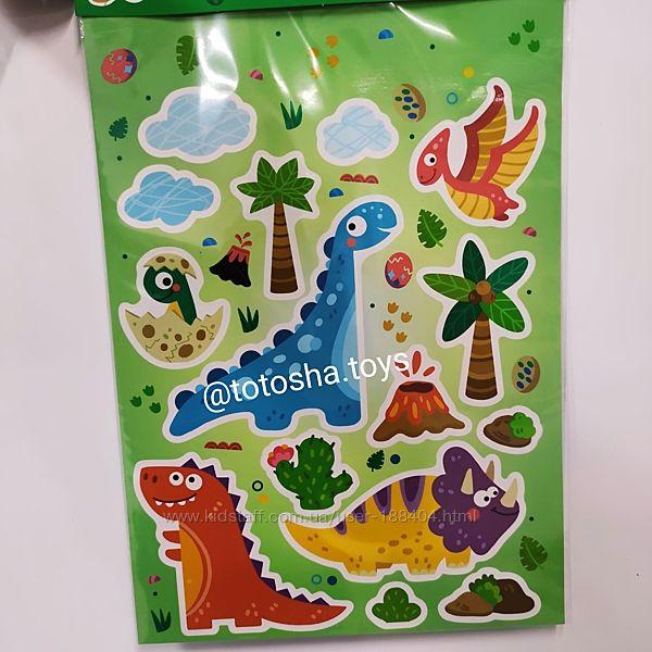 Набор настенных наклеек Динозавры от Dodo. 300303