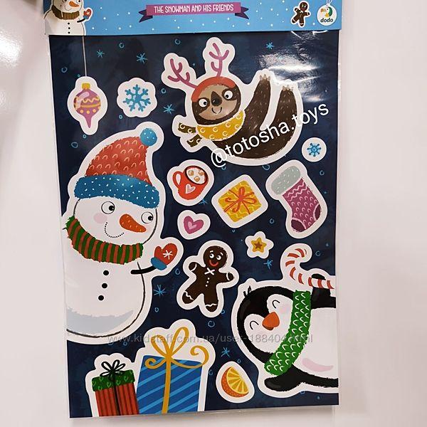 Набор настенных наклеек Снеговик и его друзья от Dodo. 300300