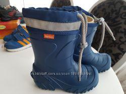 Резинові чобітки 23 розмір зі знімним утеплювачем на овчині