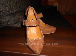 Туфли натуральный замш Basconi