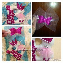 Именная буковка и ободочек для маленькой принцессы