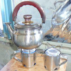 Мини-печка на  жидком топливе для туризма и аварийных ситуаций
