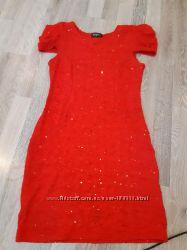 Платье красное  второе в подарок