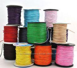 Шнуры шамбальный и вощеный 1 мм есть цветной шнур