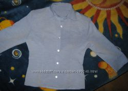 Продам женскую рубашку голубого цвета , 46 р.