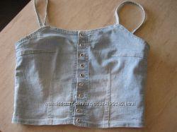 Продам женскую топ-майку  джинс голубого цвета Размер S