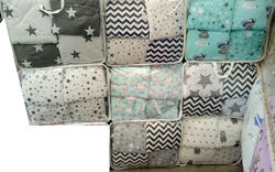 Комплект постельного белья 9 в 1, балдахин, защита 12 подушек, бязь, хлопок