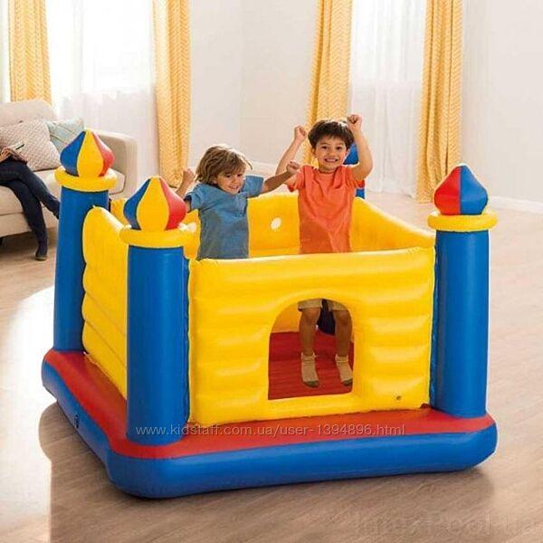 Детский надувной игровой центр батут Intex 48259 Замок, 174х174х112 см