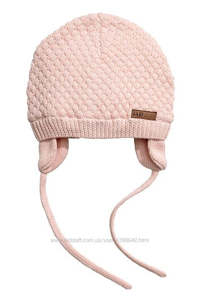 Демисезонные шапочки H&M на 6-12мес. , 1-2 года. 2 цвета