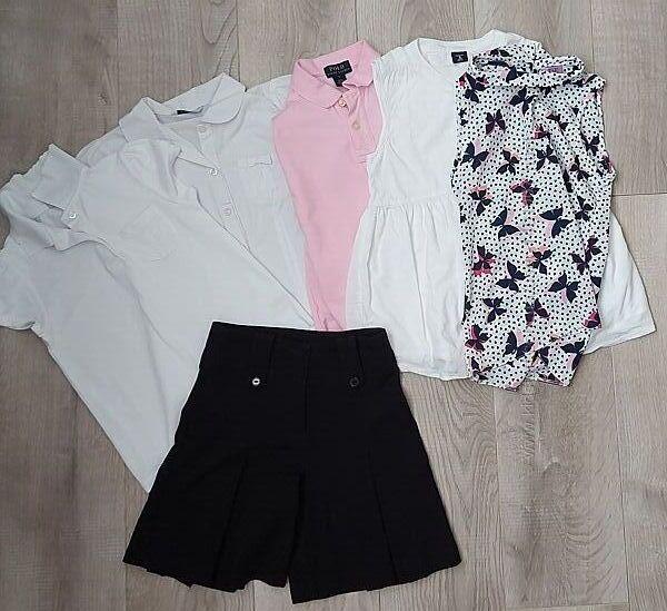 Фирменные школьные блузки, рубашки короткий рукав