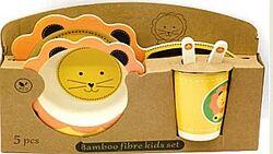 Наборы детской экологически чистой качественной посуды из бамбука подарок д
