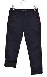 Теплые брюки на мальчика sinbad 18 бордовый кант