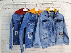 Джинсовая куртка на девочек 3 модели