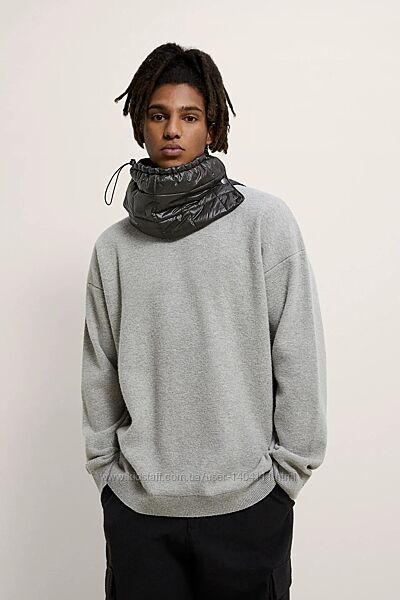 Свитер новый Zara Зара мужской L шерсть 70 теплый шерстяной серый вовна