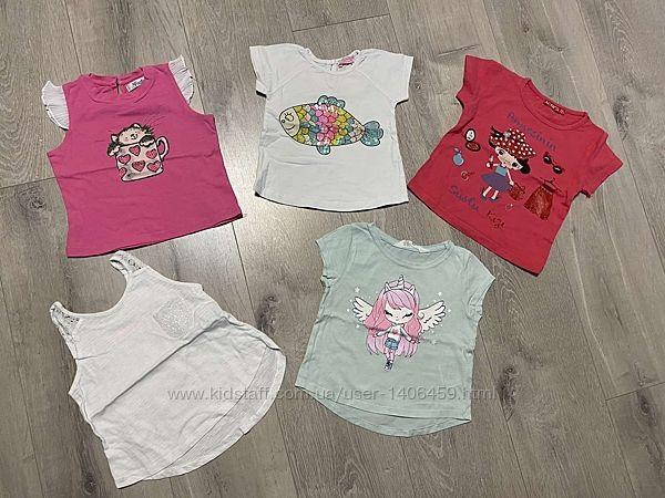 Пакет вещичек для девочки футболка Gaialuna майка