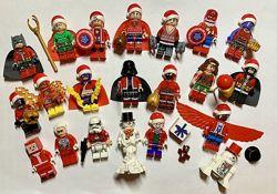 Лего человечки фигурки Марвел DC снеговик Lego