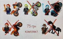 Новые фигурки Лего Призрачный гонщик человечки лошадь мотоциклы