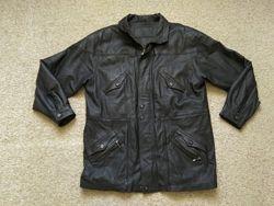 Кожаная мужская куртка . Натуральная кожа. размер 56 как новая