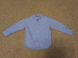 Рубашка Zara размер 122 на 1-2 класс мальчику в идеал. сост
