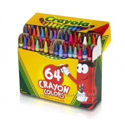 Карандаши восковые Crayola Crayons 64 шт точилка