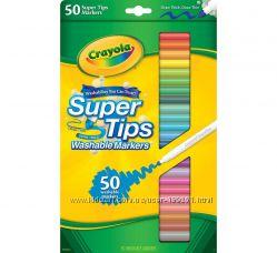 Смывающиеся фломастеры маркеры Crayola 50 шт Оригинал в наличии