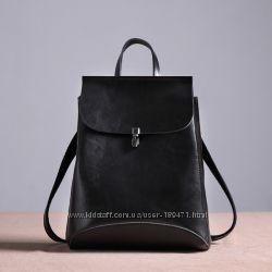 Кожаный рюкзак три цвета