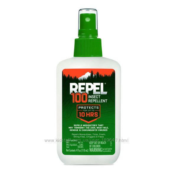 Спрей REPEL 100Deet от комаров клещей мошки мух оводов блох США