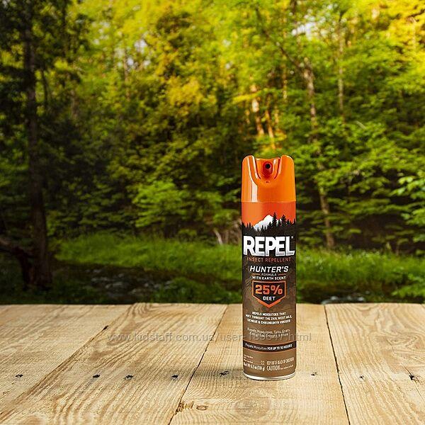 Спрей от насекомых Repel Hunter 25 Deet запах земли. Формула охотника.