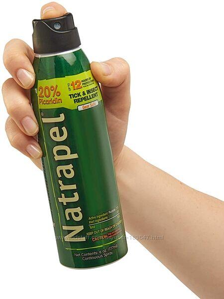 Репеллент NATRAPEL пикаридин спрей защита от комаров, клещей, насекомых