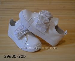 Демисезонные нарядные белые ботинки для девочки размеры 31-36