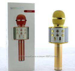 Беспроводной караоке микрофон колонка bluetooth с динамиком ws 858, USB