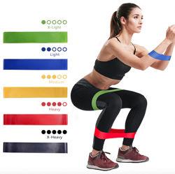 Набор из 5 резинок  и чехол. Резинки для фитнеса Mini Loop Bands