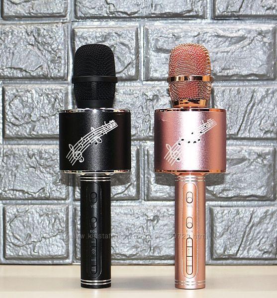 Микрофон-колонка Karaoke 2 в 1 YS-66, FM-радио, USB, TF, AUX, с подсветкой
