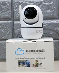 Беспроводная поворотная комнатная WiFi IP камера, видеоняня, датчик движени