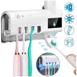 Держатель диспенсер для зубной пасты и щеток автоматический УФ-стерилизатор