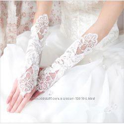 Свадебные перчатки. Три вида