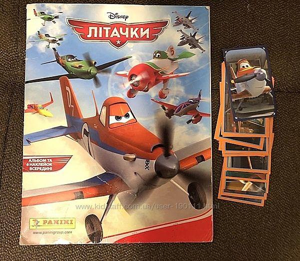 Наклейки Самолетики Planes Литачки Panini Аэротачки Пересылка в подарок