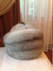 Продам норковую шапку с голубой норки