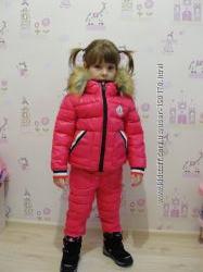 Зимний раздельный комплект MONCLER для девочек в наличии цена снизилась