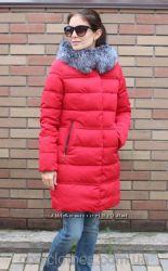Женский холлофайбер с мехом чернобурки. В наличии, доставка 1 день, примерк
