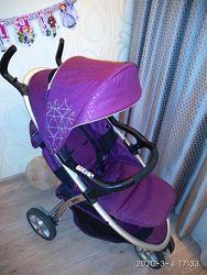 Коляска прогулка фиолетовая