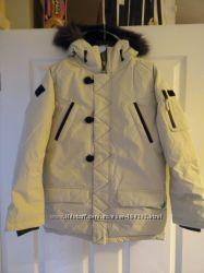 Куртки NEXT серо-беж зимние термо от 5С до -25С  на мальчика 11, 12 лет