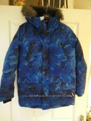 Куртки NEXT синий рисунок зимние термо от 5С до -25С на мальчика 11, 12 лет
