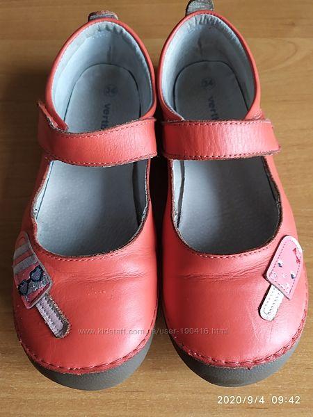 Симпатичные, кожаные туфли, 21 см