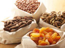 Орехи, сухофрукты, цукаты, бобовые, семечки