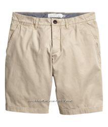 Качественные мужские шорты h&m, 32, 34 р