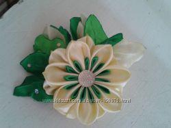 украшения из цветов канзаши