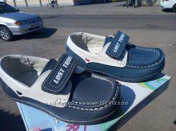 Кожаные туфли мокасины Фламинго